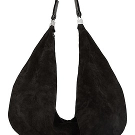 The Row - The Sling leather-trimmed suede shoulder bag