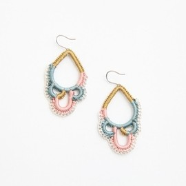 shingo matsushita - ピアス light blue/pink/gold