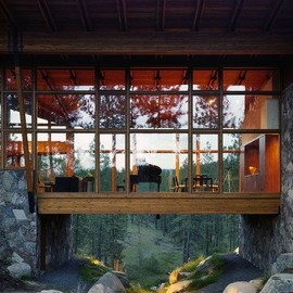 Suspended living room