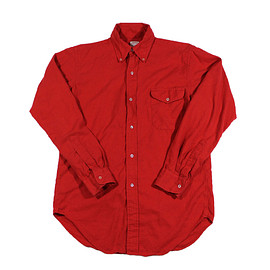 Brooks Brothers - Vintage 80s Brooks Brothers Red Flannel Button Down Shirt Made in USA Mens Size 14-R (small)
