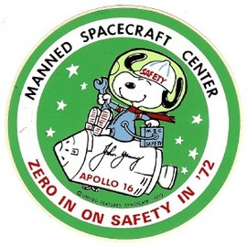 NASA - Snoopy Sticker for MANNED SPACECRAFT CENTER '72