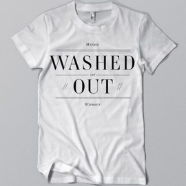 Washed Out, Sub Pop Records, American Apparel - Washed Out White T-Shirt
