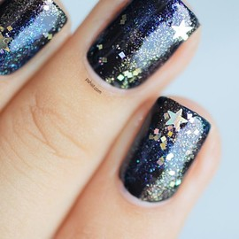 Nails - Rainbow Honey Shooting Star☆
