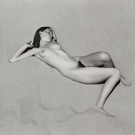 Edward Weston - Nude on Sand, Oceano, 1936