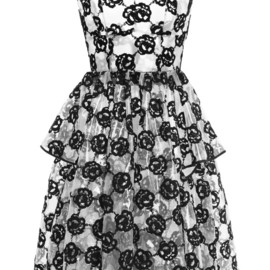 SIMONE ROCHA - Black Embroidered Plastic Party Dress