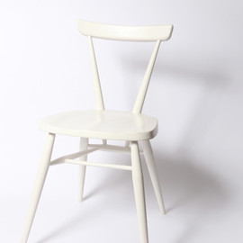ERCOL - WHITE STACKING CHAIR