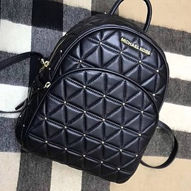 MICHAEL KORS - MICHAEL Michael Kors Abbey Quilted-Leather Backpack Black