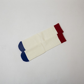 KONCOS - TRICOLORE TUBE SOCKS [WHITE]