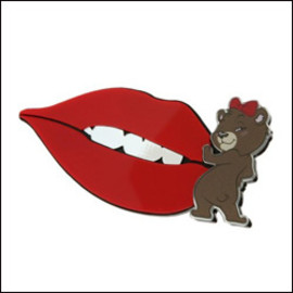 High-Me TOKYO×MARIE B - Nihil Lip Broach with Nam bear