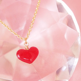 puzzle - 14KGF red heart ネックレス