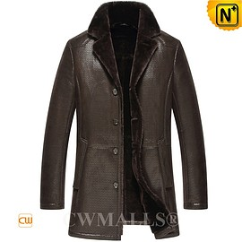 CWMALLS - CWMALLS® Custom Men's Sheepskin Trench Coat CW807127