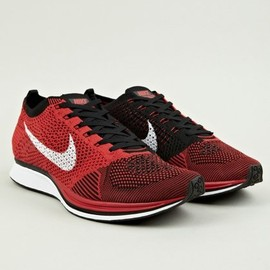 Nike - Red Flyknit Racer Sneakers
