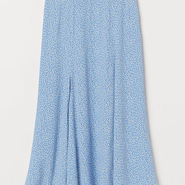 H&M - Calf-length Skirt - Blue/floral - Ladies | H&M US 6