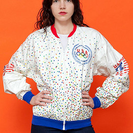 1988 Olympics Jacket United States Olympic Committee US Team USA Tyvek XL Vtg