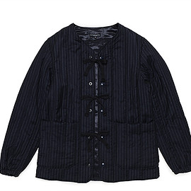 ENGINEERED GARMENTS - Liner Jacket-Worsted Wool-Navy St.