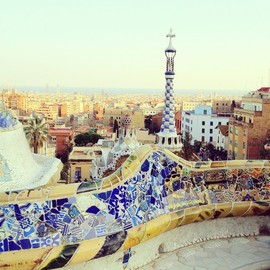 Park Guell in Barcelona - Antoni Gaudi's colourful work