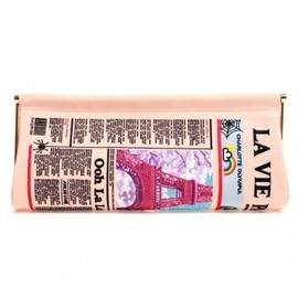 Charlotte Olympia - Newspaper Embroidered Long Clutch