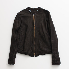 nitca - SHEEP LEATHER ジップブルゾン black