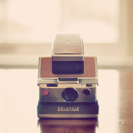 SALE Photography, Camera, Still Life, Polaroid Land, Vintage Camera, Pink, Dreamy, Retro, Home Decor