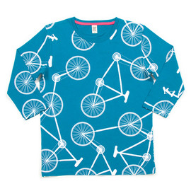 graniph - Bicycle Pattern Middle Sleeve(Blue)