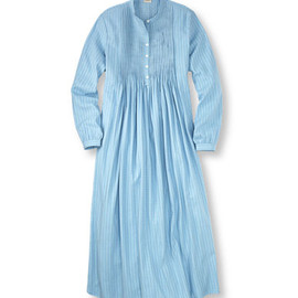 L.L.Bean - Vintage Flannel Nightgown : Crystal Blue Dobby