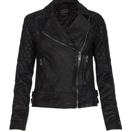 All Saints - walker leather biker jacket