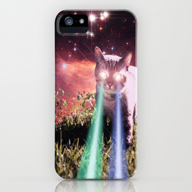 Hayley Sargent - Mega Space Cat Rising iPhone Case