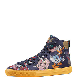 GUCCI - SS2017 Donald Duck Men's Jacquard High-Top Sneaker, Multicolor