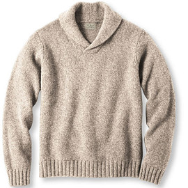 L.L.Bean - Classic Ragg Wool Sweater, Shawl Collar