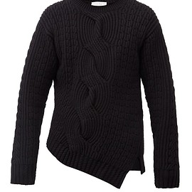 Alexander McQueen,MATCHESFASHION UK - Asymmetric cable-knit wool-blend sweater