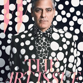 W magazine - George Clooney: Spot the Star -THE ART ISSUE starring George Clooney