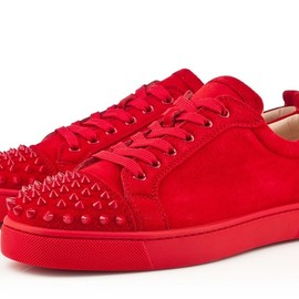 Christian Louboutin - red sneakers