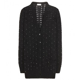 SAINT LAURENT - Pre-Fall 2015 Mohair and wool-blend cardigan