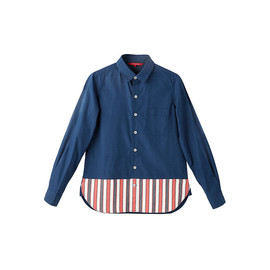 TROPOPAUSE - Navy × Stripe Shirt (01412)