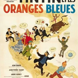 Tintin and the Blue Oranges - 映画ポスター - 11 x 17