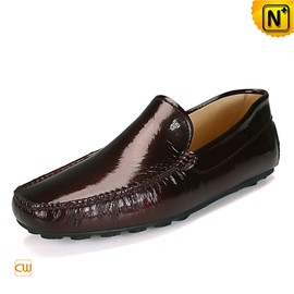 cwmalls - Mens Moc Leather Loafers Shoes CW740033