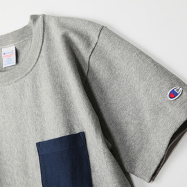 Mt.Design Champion別注 CREW NECK T-SHIRTS WITH POCKET