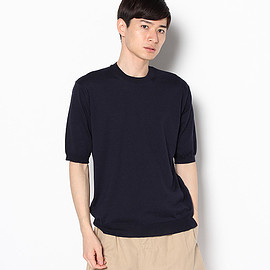 AURALEE - HIGH GAUGE SHORT SLEEVE KNIT