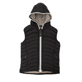 Hypertrophy - Hypertrophy Fatzipper  HOOD  DOWN VEST 2014  BLACK×CREAM WHITE ZIP