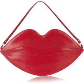 Charlotte Olympia - Big Kiss leather lips clutch