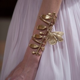 Giambattista Valli - haute couture, Fall 2012.  golden leaf & butterfly