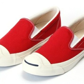 CONVERSE×BEAMS - JACK PURCELL SLIP-ON レッド