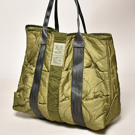 US - Us Customized Dead Stock US Military/M-65 Quilted Tote Bag(USカスタマイズ トートバッグ)オリーブ [a-4175]