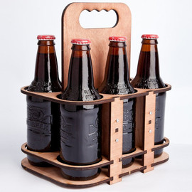 timogiles - The 6 Packer - a lasercut 6 pack glass bottle holder