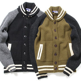 JUNYA WATANABE COMME des GARCONS MAN - Wool Knit Stadium Jacket