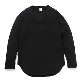 HEAD PORTER PLUS - OVAL L/S TEE BLACK