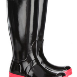 HUNTER - Original Tall neon-soled Wellington boots