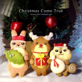 henteco cookie - happy merry christmas cookies