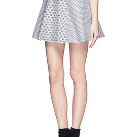 OPENING CEREMONY - Esther floral jacquard flared skirt
