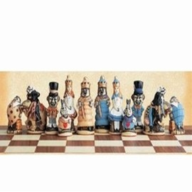 SAC - Alice In Wonderland Chess Set Hand Painted/不思議の国のアリスチェスセット